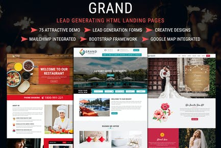 Grand - Lead Generating HTML Landing Pages