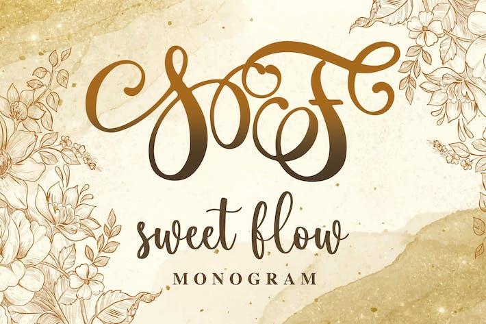 Fuente de monograma de flujo dulce