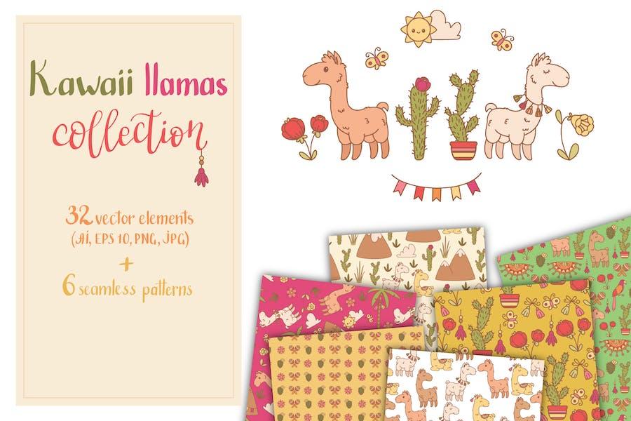 Kawaii Llamas Set