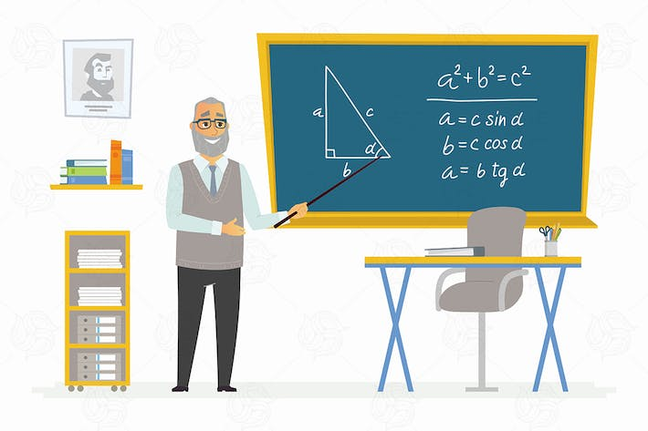 Thumbnail for Geometry Classroom - vector illustration