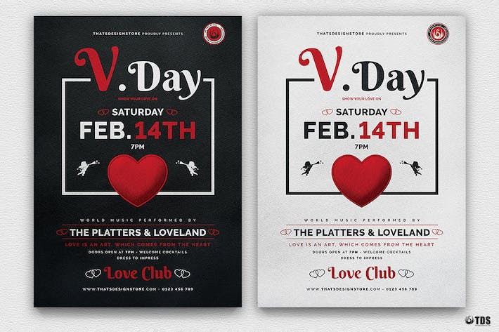 Thumbnail for Valentines Day Flyer Template V18