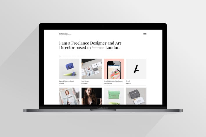 Thumbnail for Jane | Responsive HTML5 Portfolio Template