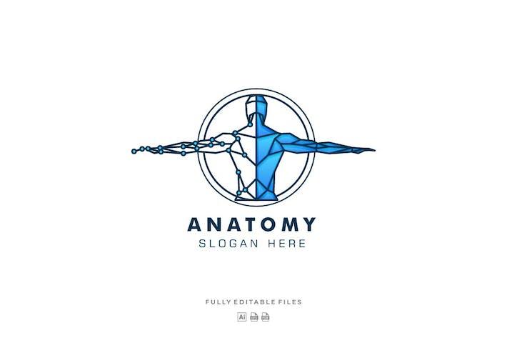 Anatomy Line Art Style Logo Template