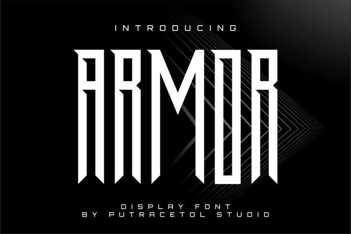Thumbnail for Armor - Powerful Condensed Display Font