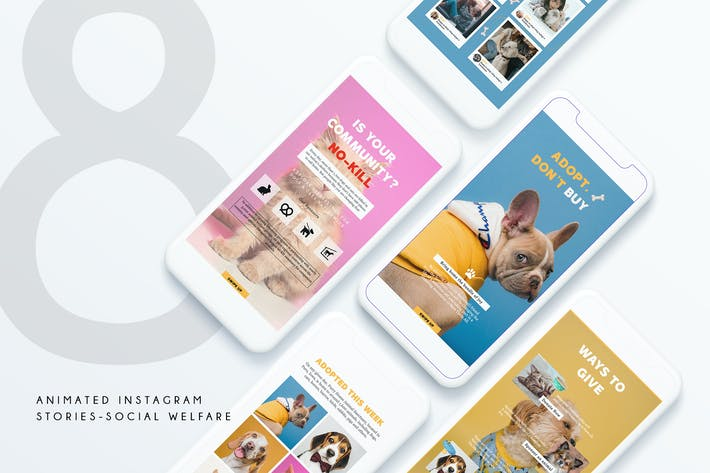 Thumbnail for 8 Animated Instagram Stories - F