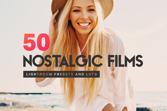 Thumbnail for 50 Nostalgic Films Lightroom Presets and LUTs