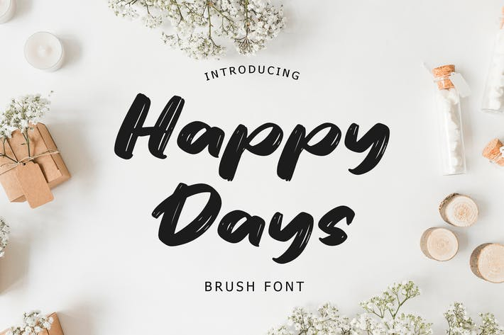 Thumbnail for Happy Days Brush Display Font