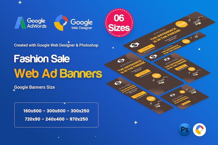Thumbnail for Fashion Sale Banners HTML5 D47 Ad - GWD & PSD