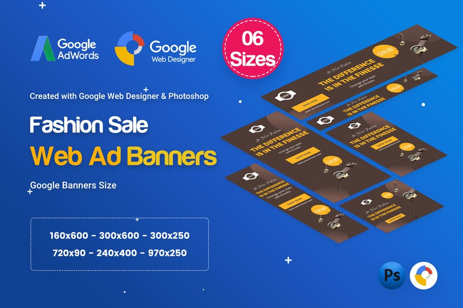 Fashion Sale Banners HTML5 D47 Ad - GWD & PSD