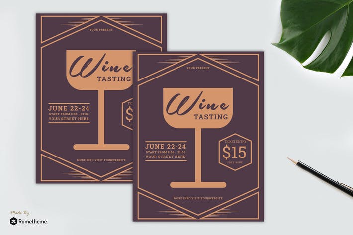 Thumbnail for Wine Tasting Flyer vol. 01