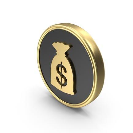 Dollar Money  Bag Coin Logo Symbol Icon