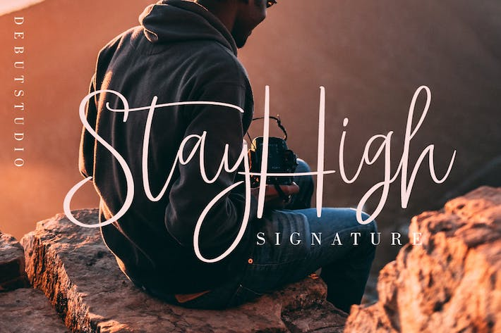 Thumbnail for StayHigh // Signature Font