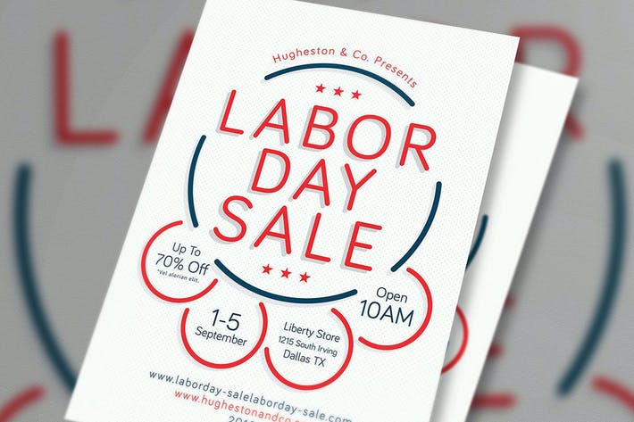 Cover Image For Labor Day Sale Flyer