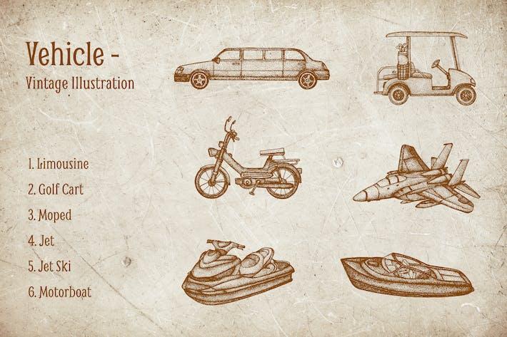 Vintage Illustration - Vehicle V.6