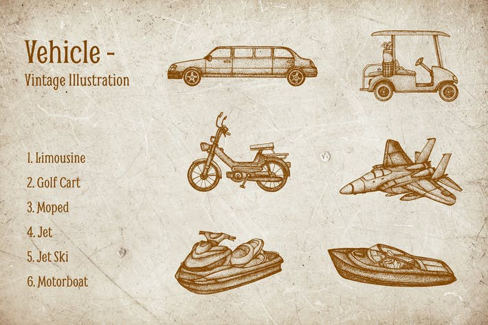 Thumbnail for Vintage Illustration - Vehicle V.6