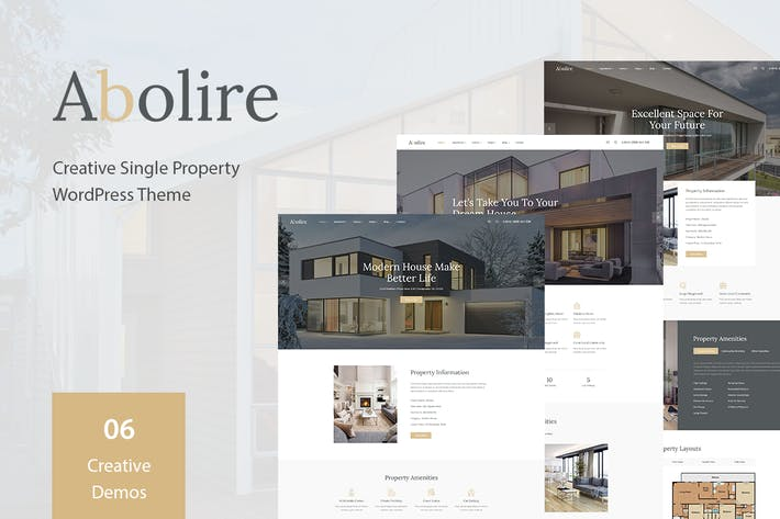 Thumbnail for Abolire - Single Property WordPress Theme