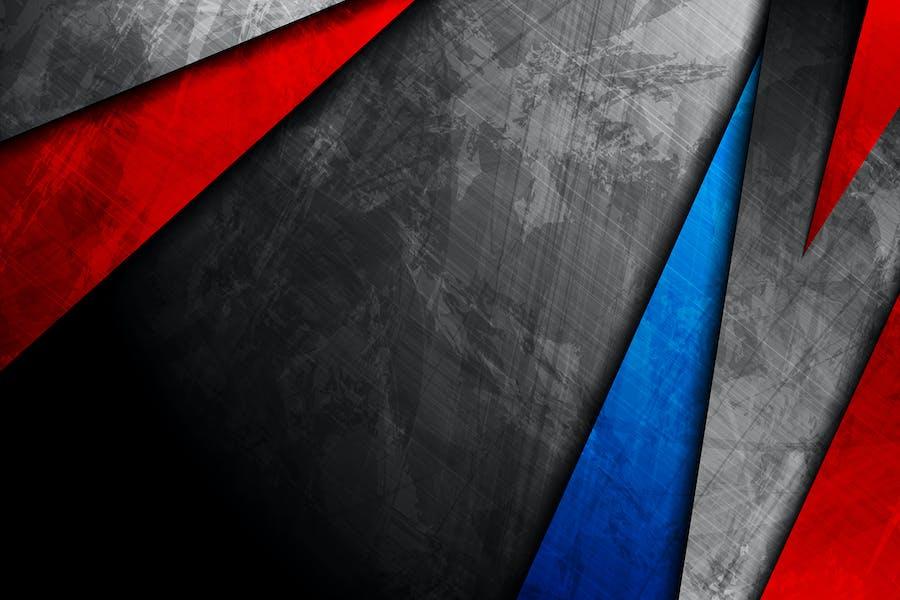 Blau-rot und dunkelgrau grunge abstrakter Hintergrund