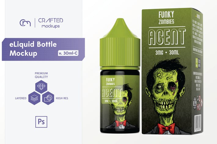 Thumbnail for eLiquid Bottle Mockup v. 30mL-C