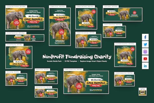 NonProfit Fundraising Charity Social Media Pack