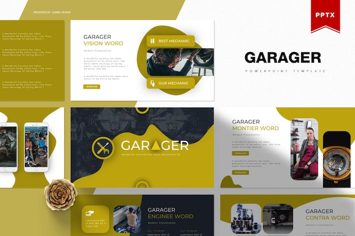 Thumbnail for Garager| Powerpoint Template