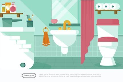 Bathroom - Interior Background Illustration