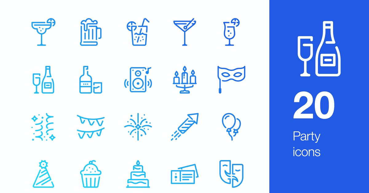 Download 20 Party icons by Unknow