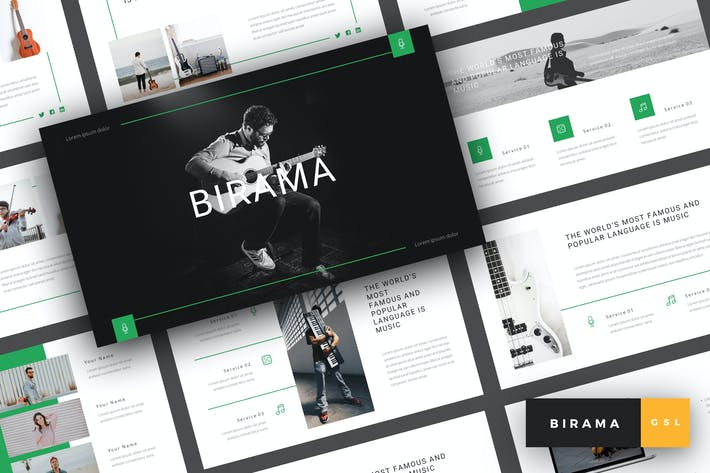 Thumbnail for Birama - Music Google Slides Template