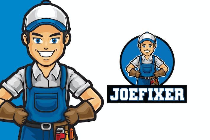 Thumbnail for Joe Fixer Logo Mascot Template