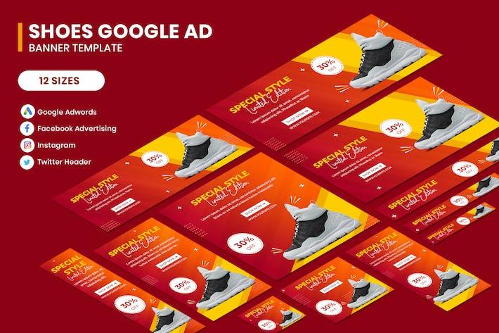 Thumbnail for Schuhe Google Adwords Banner Vorlage