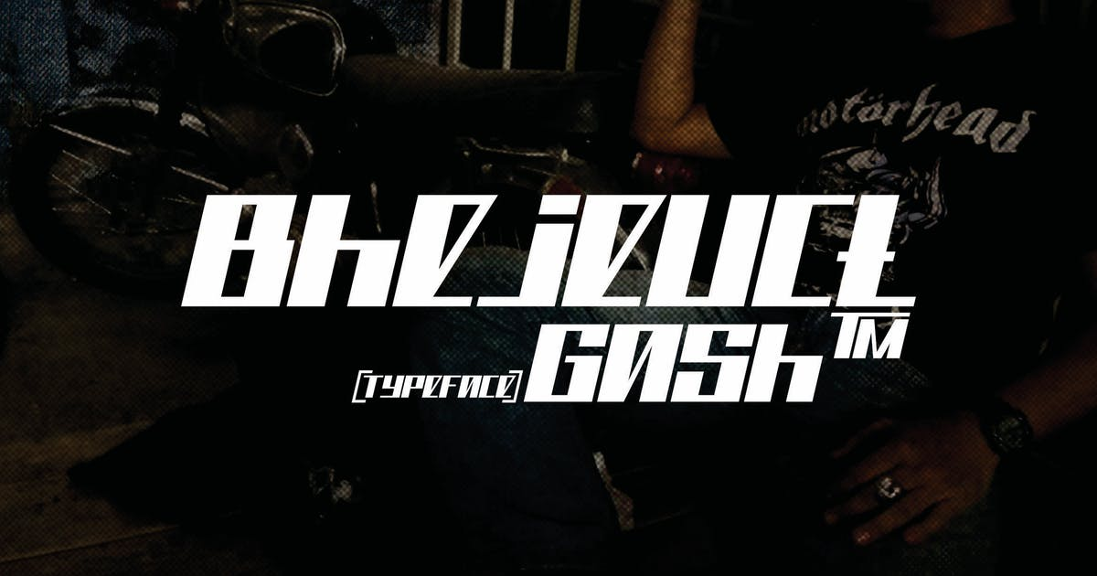 Download Bhejeuct gash typeface by inumocca