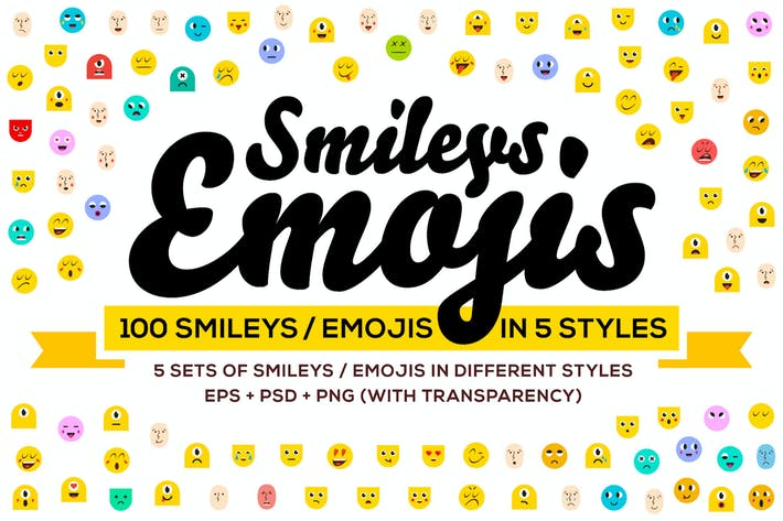 Thumbnail for 100 Emoji & Smiley Bundle Pack Vol 1