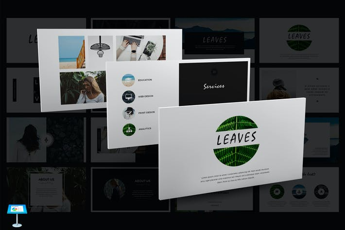 Thumbnail for Leaves Keynote Vorlage