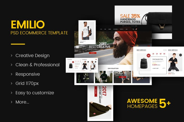 Thumbnail for Emilio - Fashion Store PSD Template