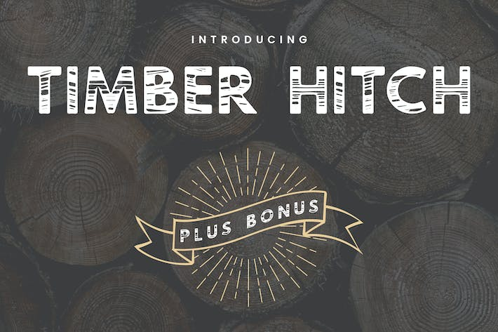 Thumbnail for Timber Hitch Font + Bonus Nature Elements
