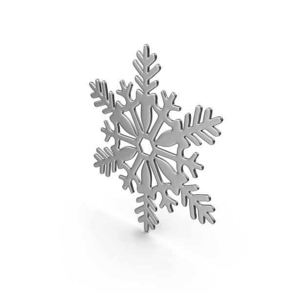 Снежинка Серый Серебро