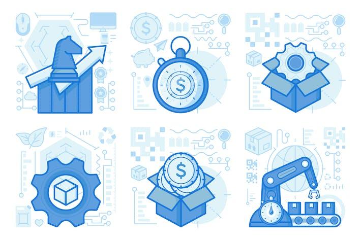 Thumbnail for UX-Illustrationen für Strategieprojektionen
