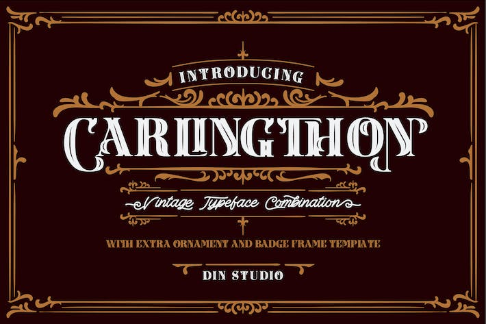 Thumbnail for Carlingthon Vintage Font Pack