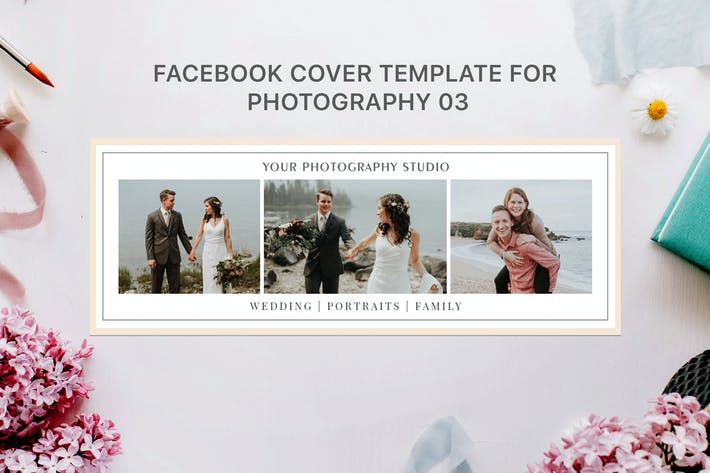 Thumbnail for Facebook Cover Template for Photography 03