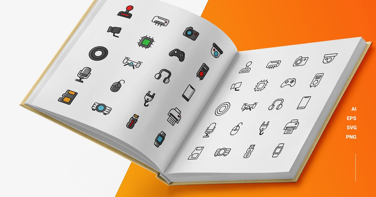 Download Electronical Device - Icons by esensifiksi