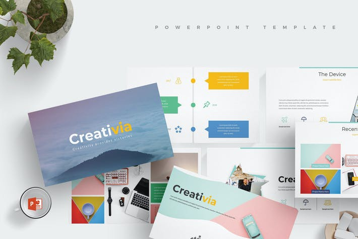Thumbnail for Creativia - Powerpoint Template