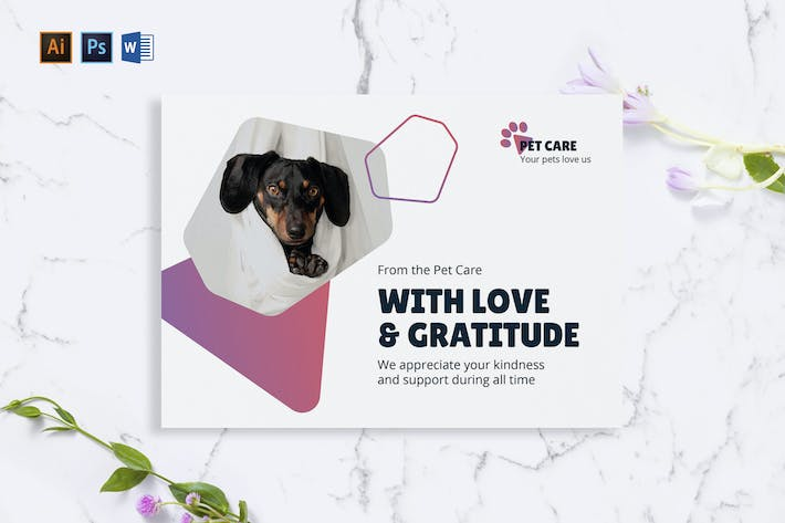 Thumbnail for Pet Grooming Care Greeting Card