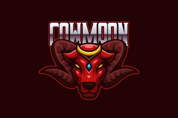 Thumbnail for Cow Moon E-sports Logo Template
