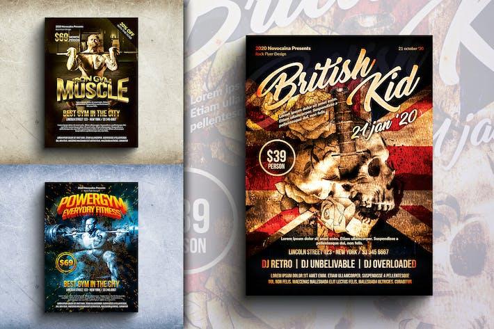 Thumbnail for Verschiedene Flyer & Poster Design Bundle