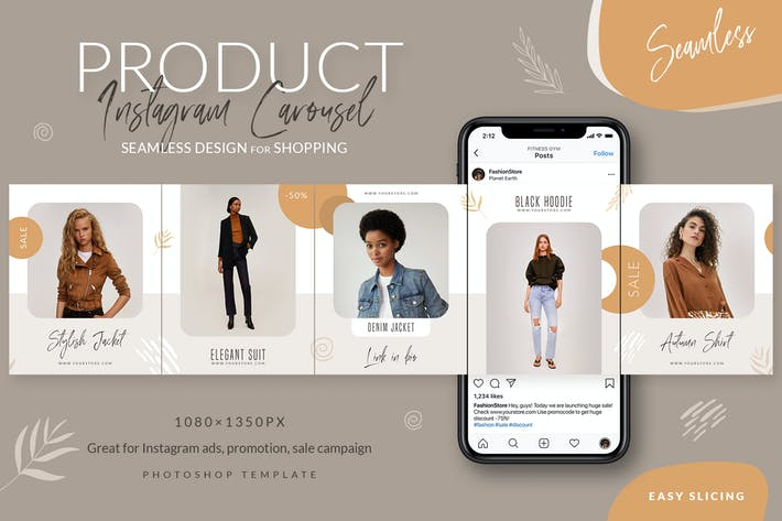 Thumbnail for Product - Seamless Instagram Carousel