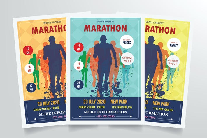 Thumbnail for Marathon Flyer Template