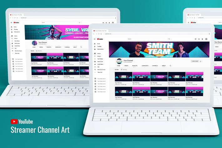 Streamer Youtube Channel Art