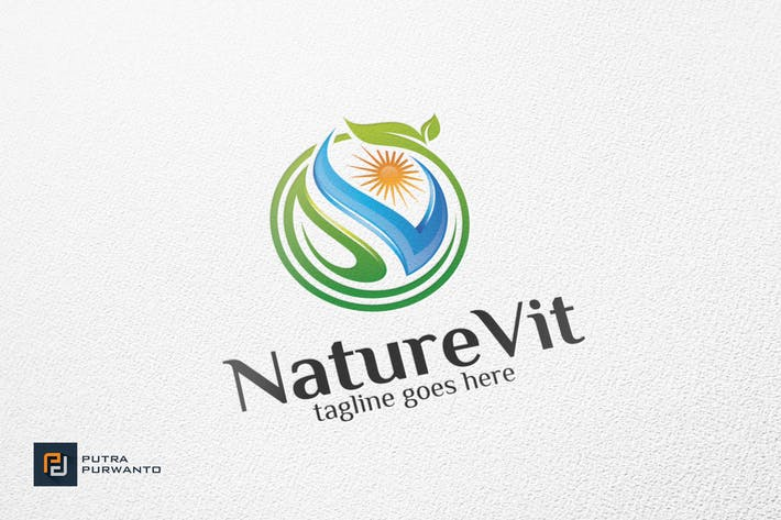 Thumbnail for NatureVit / Human - Logo Template