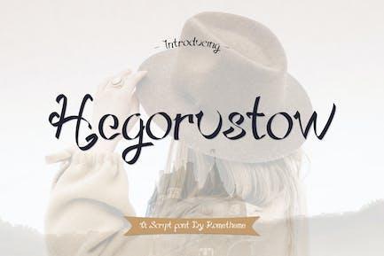 Hegorustow Font YR