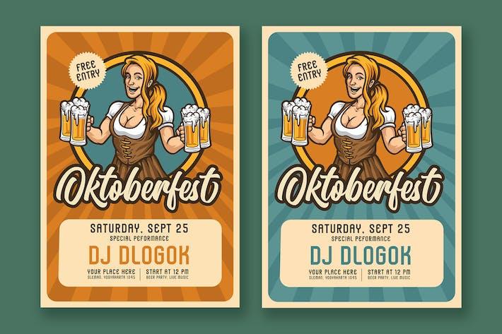 Thumbnail for Oktoberfest Retro Flyer  01