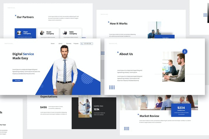Thumbnail for Advanced Business Keynote Template